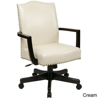 Inspired by Bassett Morgan Faux Leather Manager's Chair (Option: Cream)
