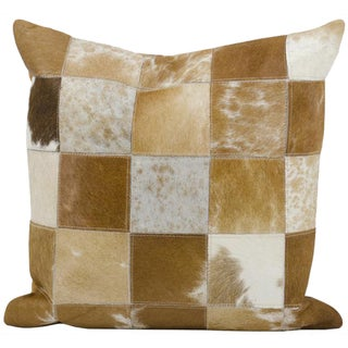 Mina Victory Dallas Animal Print Tan/White Throw Pillow (20-inch x 20-inch) by Nourison