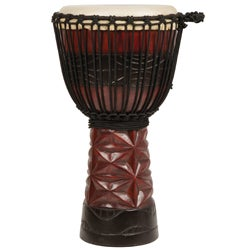 Burgundy and Black Professional Level Djembe Drum (Indonesia)