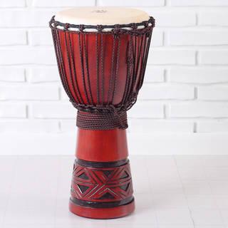 Handmade Celtic Labyrinth Full Size Djembe Drum (Indonesia)