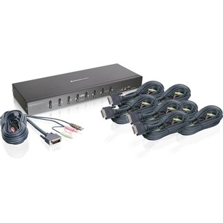 IOGEAR 8-Port Dual Link DVI KVMP Switch KIT