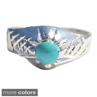 Handmade Handmade Women's Tribal Sterling Silver Ring (Afghanistan) (More options available)