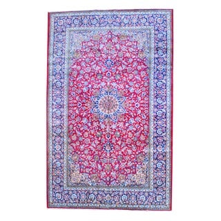 Herat Oriental Persian Hand-knotted Isfahan Wool Rug (9'9 x 15'4)