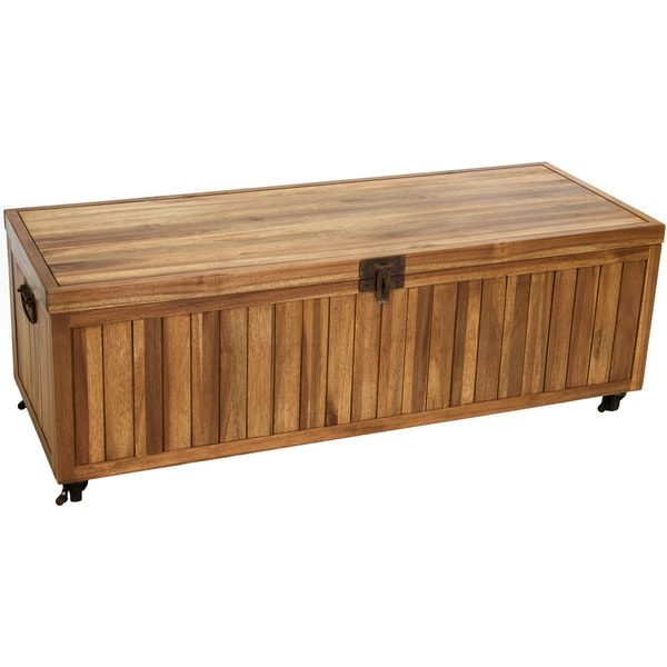 Alamo Acacia Wood Bench Ottoman by Christopher Knight Home
