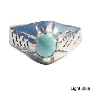 Hand-crafted Tribal Sterling Silver Ring (Afghanistan)
