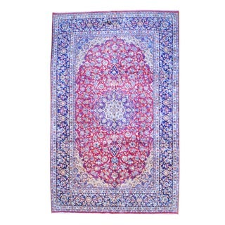 Herat Oriental Persian Hand-knotted Isfahan Wool Rug (9'6 x 15'3)