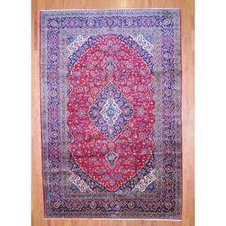 Herat Oriental Persian Hand-knotted Kashan Wool Rug (10' x 15')|https://ak1.ostkcdn.com/images/products/7920165/7920165/Persian-Hand-knotted-Kashan-Red-Navy-Wool-Rug-10-x-15-P15297450.jpg?impolicy=medium