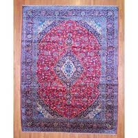 Herat Oriental Persian Hand-knotted Kashan Wool Area Rug (11'3 x 15') - 11'3 x 15'
