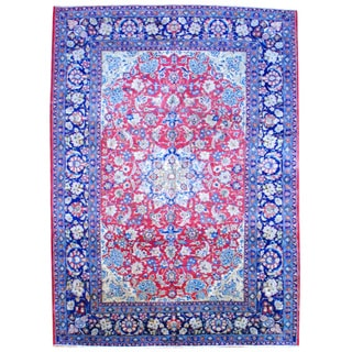 Herat Oriental Persian Hand-knotted Isfahan Wool Area Rug (11' x 15')