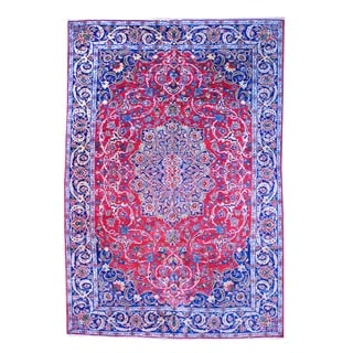 Herat Oriental Persian Hand-knotted Isfahan Wool Rug (10'5 x 15'5)