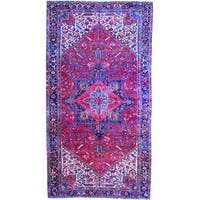 Herat Oriental Persian Hand-knotted 1920s Heriz Wool Area Rug (10' x 19') - 10' x 19'