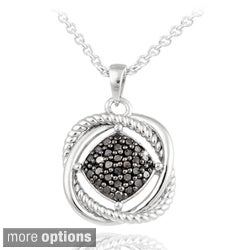 DB Designs Sterling Silver 1 3ct TDW Diamond Love Knot Necklace