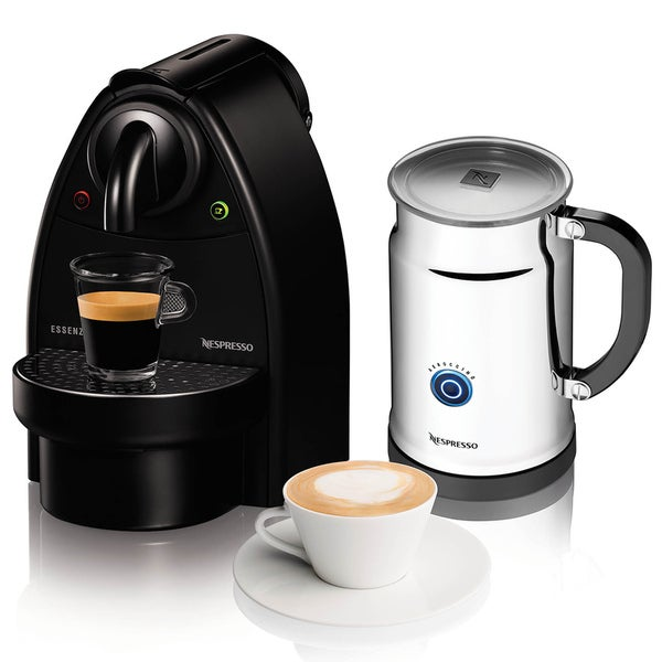 Nespresso Essenza Manual Espresso Machine with C91/Aero Milk Frother