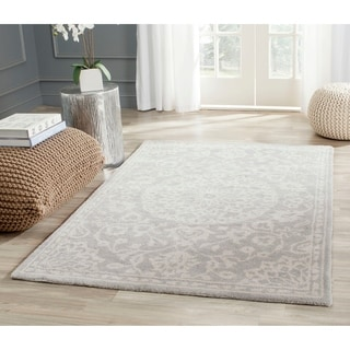 Safavieh Handmade Bella Grey/ Silver Wool Rug (3' x 5')