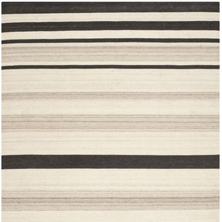 Safavieh Hand-woven Moroccan Reversible Dhurrie Natural Wool Rug (6' Square)