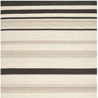 Safavieh Hand-woven Moroccan Reversible Dhurrie Natural Wool Rug - 6' Square