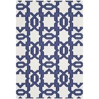 Safavieh Transitional Handwoven Moroccan Reversible Dhurrie Ivory Wool Rug - 4' x 6'