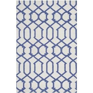 Safavieh Handwoven Moroccan Reversible Dhurrie Ivory Wool Geometric Rug (9' x 12')