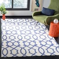 Safavieh Handwoven Moroccan Reversible Dhurrie Ivory Wool Geometric Rug - 9' x 12'