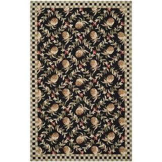Safavieh Hand-hooked Chelsea Black/ Ivory Wool Rug (8'9 x 11'9)