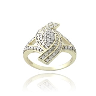 DB Designs 18k Gold over Silver 1/4ct TDW Diamond Fashion Ring