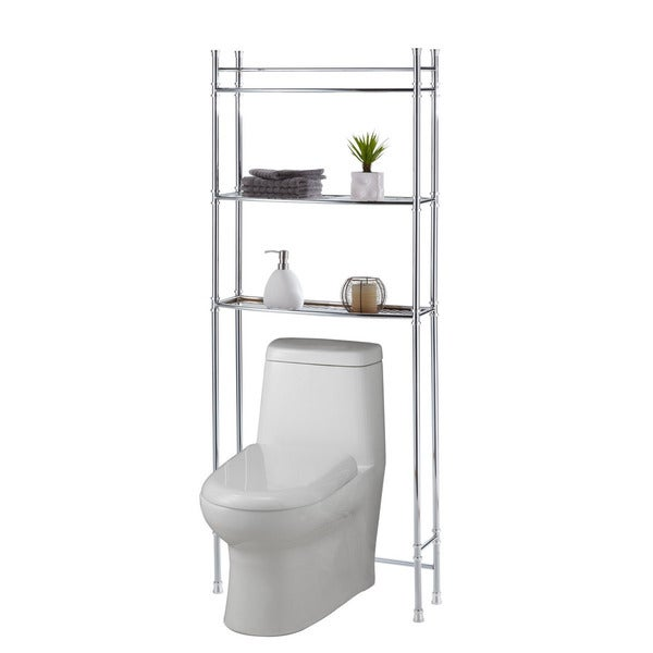 Lastest Bathroom Organizer Shelf 2 Tiers Chrome Rack Storage Towel Bar Wall