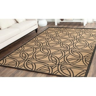 Martha Stewart by Safavieh Links Gold/ Black Indoor/ Outdoor Rug (8'x 11'2)