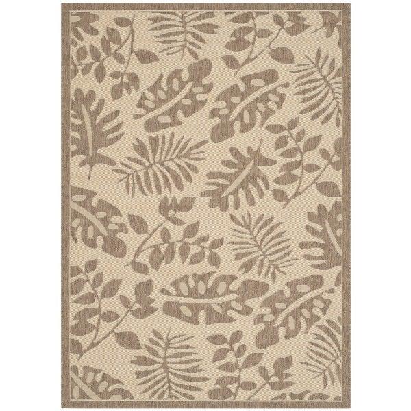 Martha Stewart by Safavieh Paradise Cream/ Brown Indoor/ Outdoor Rug (6'7 x 9'6) - 6'7 x 9'6