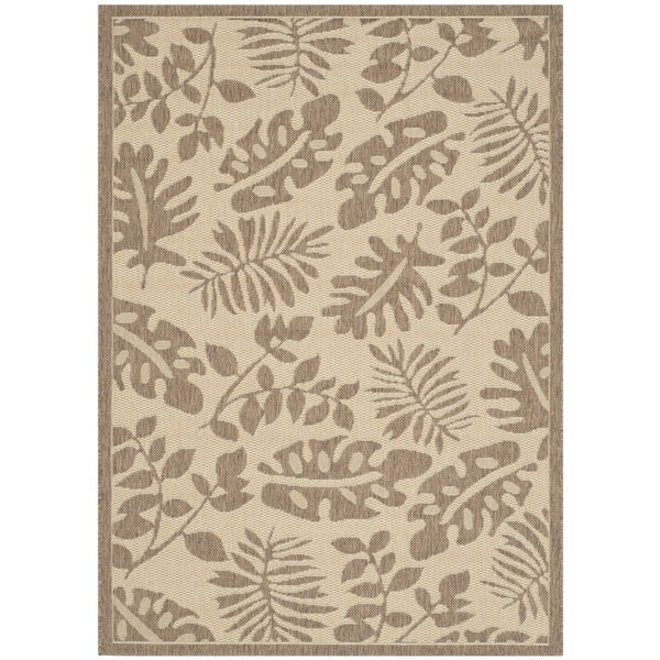 Martha Stewart by Safavieh Paradise Cream/ Brown Indoor/ Outdoor Rug - 8' x 11'2