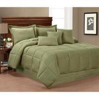 Solid Color 7-piece Comforter Set