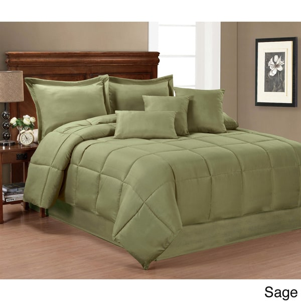 Solid Color 7 Piece Comforter Set Free Shipping Today