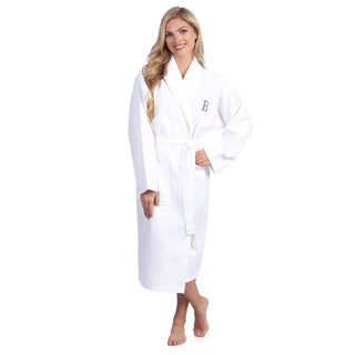Authentic Hotel and Spa Monogrammed Turkish Cotton Unisex Waffle Weave Bath Robe