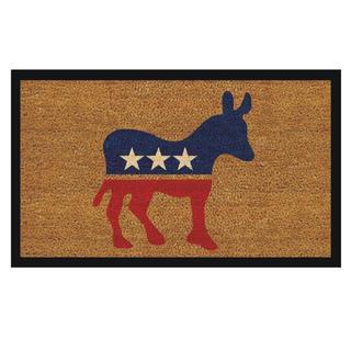 Democratic Donkey Natural Coir/ Vinyl Doormat (1'5 x 2'5)