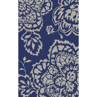 Hand-hooked Orsa Outdoor Aegean/ Whisper Rug (8'9 x 10')