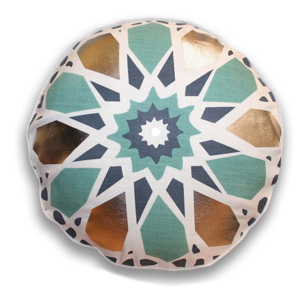 18-inch Round Kaleidescope Decorative Throw Pillow