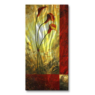 Megan Duncanson 'Lilly Trio' Metal Wall Hanging