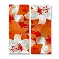 Ruth Palmer 'Orange Lilies' Wall Art