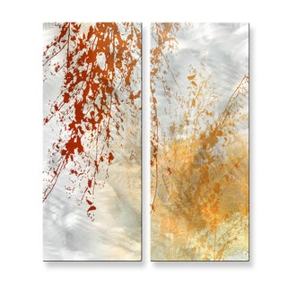 Ruth Palmer 'Fall Meets Winter 2' Metal Wall Art