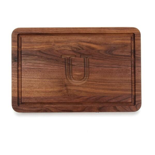 Monogrammed Walnut Cutting Board