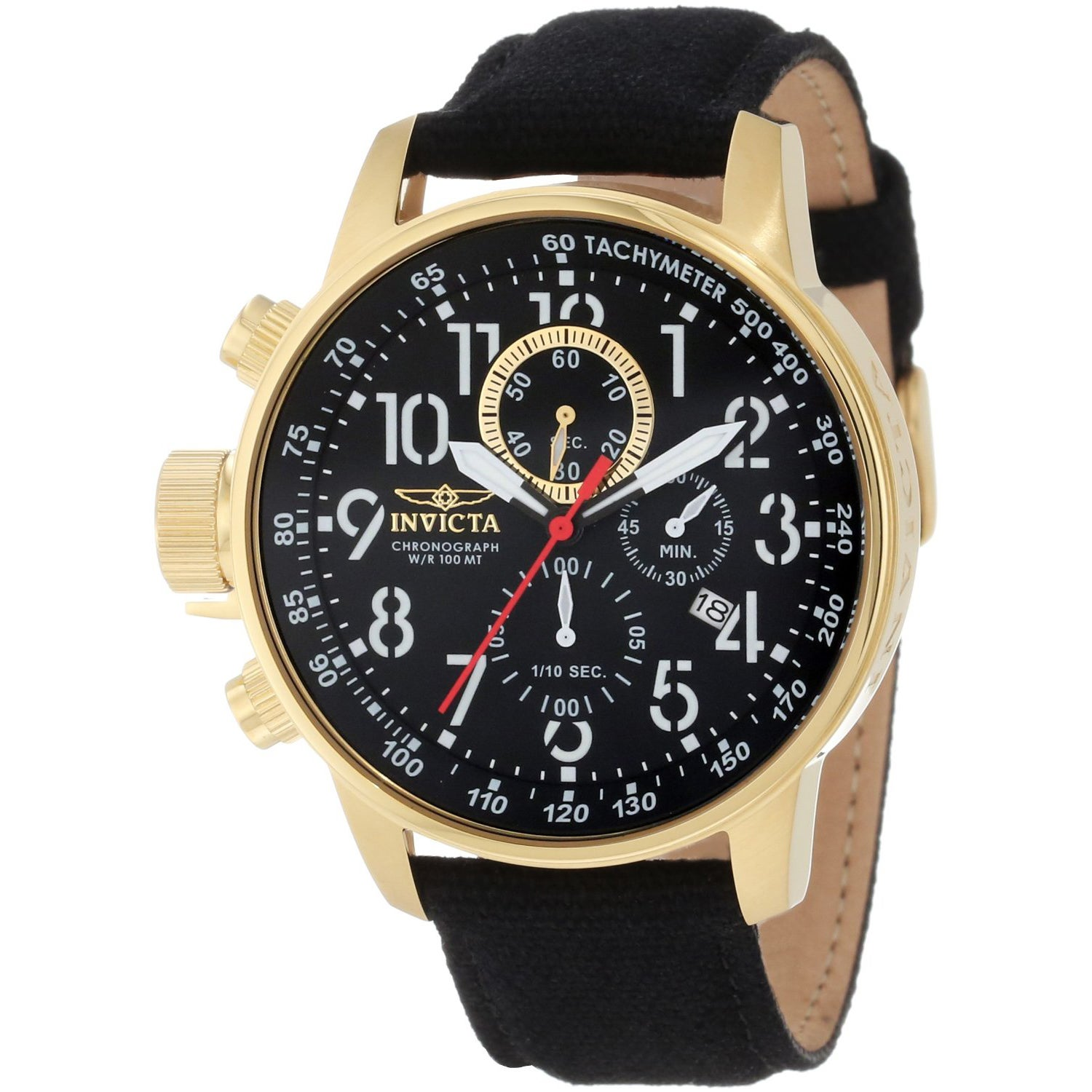 Invicta Men's 1515 Chronograph Black/ Goldtone Watch (Inv...