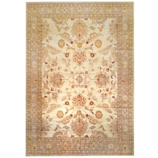 Herat Oriental Afghan Hand-knotted Vegetable Dye Wool Rug (12'7 x 18'3) - 12'7 x 18'3