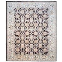 Herat Oriental Afghan Hand-knotted Vegetable Dye Wool Rug (12' x 14'6)