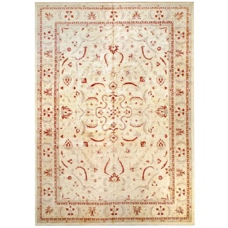Herat Oriental Afghan Hand-knotted Vegetable Dye Wool Rug (11'8 x 16'7)