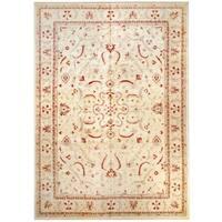 Herat Oriental Afghan Hand-knotted Vegetable Dye Wool Rug (11'8 x 16'7) - 11'8 x 16'7