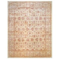 Herat Oriental Afghan Hand-knotted Vegetable Dye Wool Rug (12' x 16'2) - 12' x 16'2