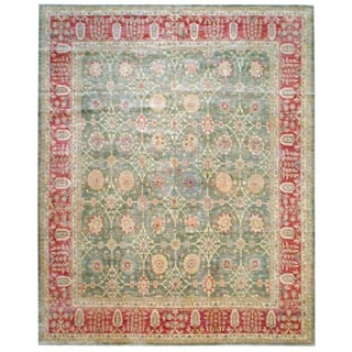 Herat Oriental Afghan Hand-knotted Vegetable-dyed Wool Area Rug (12' x 14'10)