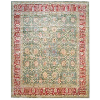 Handmade Herat Oriental Afghan Vegetable Dye Wool Area Rug - 12' x 14'10 (Afghanistan)