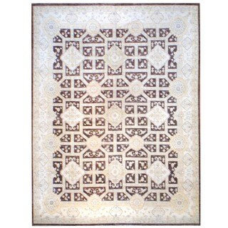 Herat Oriental Afghan Hand-knotted Vegetable-dyed Wool Rug (12' x 16')