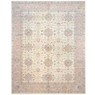 Herat Oriental Afghan Hand-knotted Vegetable-dyed Wool Rug (12' x 15')