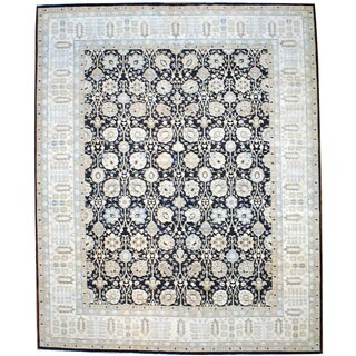 Herat Oriental Afghan Hand-knotted Vegetable-dyed Dark Wool Rug (12'3 x 15'2)
